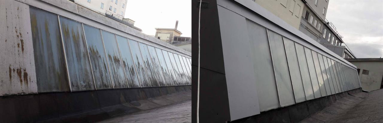 Uppfräschning av takfönster, fönsterputs oh målning