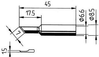 Tip Ersadur 1,5mm PLCC blade