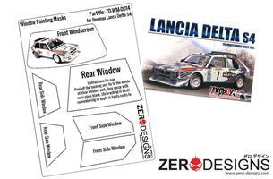 1:24 Lancia Delta S4 Rally Window Painting Masks