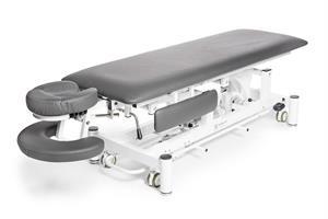 Elektrisk massagebänk Deckams, grå