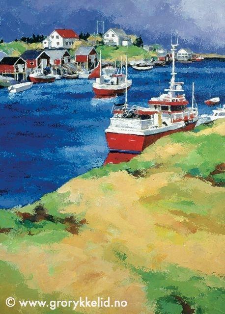 Fiskebåter på Sleneset
