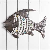 Fisk, metall, vägg