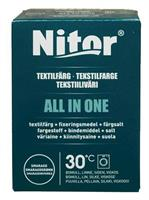 Nitor Tekstilfarge All-in-one, Smaragdgrønn