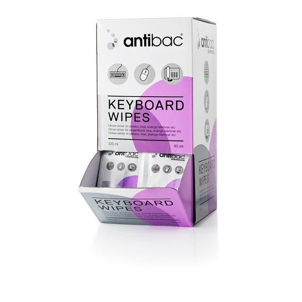 Antibac Keyboard Wipes 80st