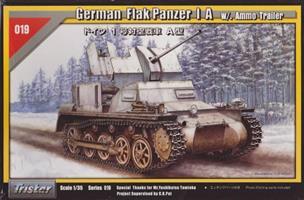 German Flak Panzer I A w/. Ammo Trailer