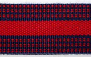 Herrebånd - Marine blå og rød