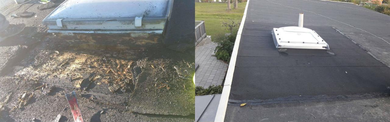 Renovation av ett fuktskadat takfönster