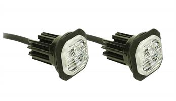 LED riktat varningsljus inb. blå diod