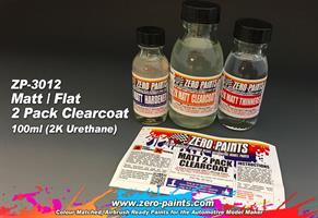 MATT/ FLAT 2 Pack Clearcoat 100ml (2K Urethane)