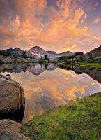 Komar fototapet Alpengluehen