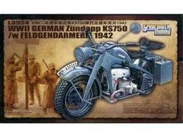 WWII German Zündapp KS750 /w Feldgendarmerie 1942