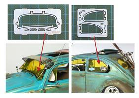 Beetle side window frame
