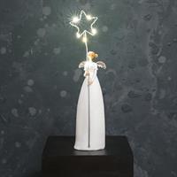 Ängel m LED-stjärna, vit