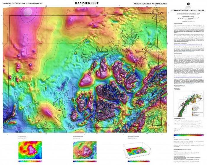 Nye geofysiske kart fra nord