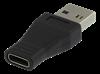 ADAPTER, USB A/M-USB-C, 3A