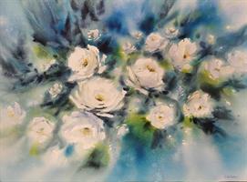 Kristin Børresen - Hvite blomster