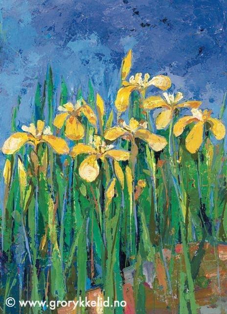 Ville iris, orginalmaleri