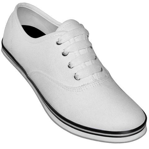 Classic White Canvas Dance Sneaker