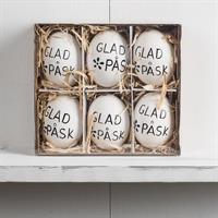 Ägg med hänge, svensk text, 6-pack