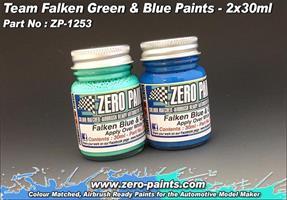 Team Falken Green and Blue Paint Set 2x30ml