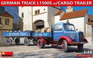 GERMAN TRUCK L1500S w/CARGO TRAILER