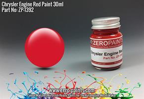 Chrysler USA Red Engine Paint 30ml