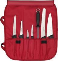 Knivfodral nylon, 7-facks / röd
