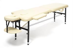 Massagebänk aluminium beige, 55