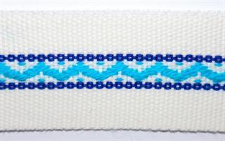 Damebånd - Hvit, turkis, blå