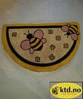 Dørmatte, biemotiv halvsirkel