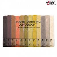 Hare dubbing 12 färger natur-Dark