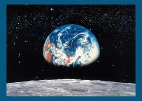 Komar fototapet Earth Moon