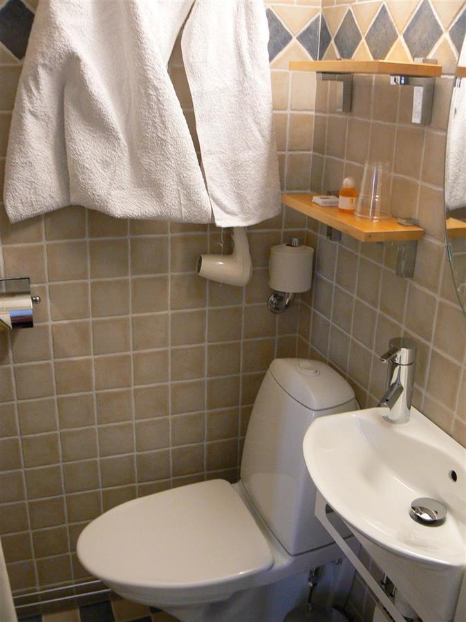 Mindre duschrum och toalett