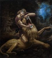 Terje Adler Mørk - Samson og løven