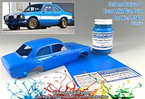 Fast and Furious 6 Ford Escort Mk 1 Blue Paint 60m