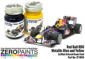 Red Bull RB6 Metallic Blue and Yellow Paint Set