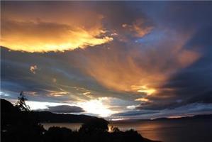 Åse Juul - Solnedgang i Korsvika