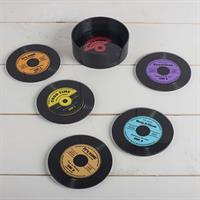Glasunderlägg,  6-p. vinyl