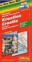 Kroatiens kust 1:250 000