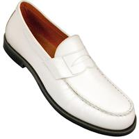 White dance loafers