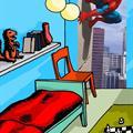 Komar fototapet Spiderman 90 degree
