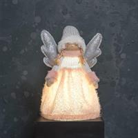 Ängel rosa/silver LED