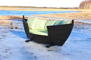 Vene-sohva musta pieni