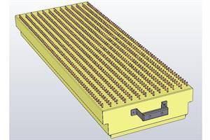 Lower nozzle sheet XL, heating zone