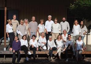 Gaudium på Hemgårdens innergård aug 2020