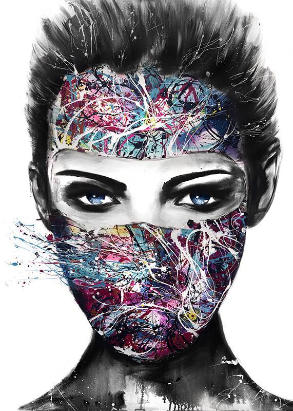 Mask konsttryck