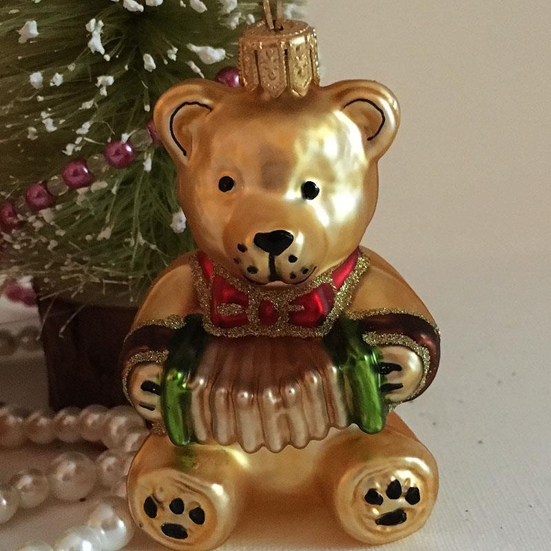 Teddy med trekkspill