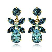 Mini Dione Earrings / Light Turquoise + Indigo