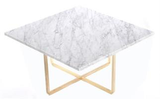 Ninety 80X80 Carraramarmor/mässing