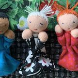 Alwas three small mini dolls in each bag